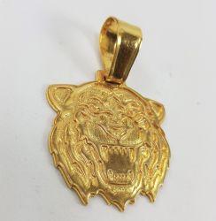 Pingente  Leão Banhado a Ouro 18k