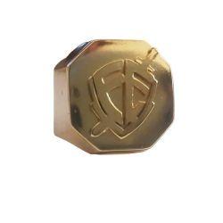 Anel Dedeira Fé Escudo  Banhado a Ouro 18k