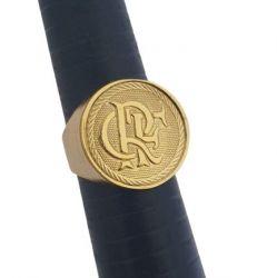 Anel Time Flamengo CRF  Banhado a Ouro 18k
