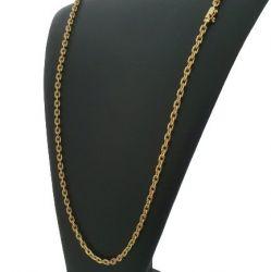 Cordão Cadeado 5 mm Banhado a Ouro 18k
