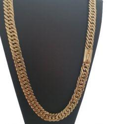 Cordão Grumet Duplo 12 mm Banhado Ouro 18k