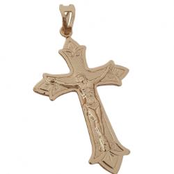 Pingente Cruz Cristo Ponteira Banhado a Ouro 18k