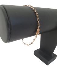 Pulseira Tijolinho 3mm (Meia Cana) Banhada a Ouro 18k