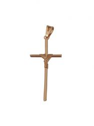 Pingente Cruz Corda  Banhado a Ouro 18k