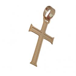 Pingente Pequeno Cruz Banhado a Ouro 18k