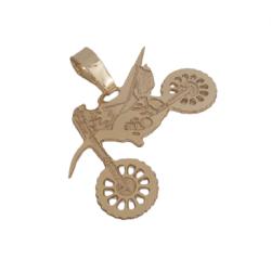 Pingente Moto Banhado a ouro 18k