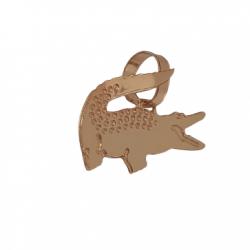Pingente Jacaré Lacoste Mini Banhado a ouro 18k