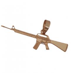 Pingente Arma Banhado a Ouro 18k