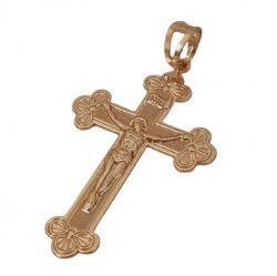 Pingente Cruz INRI Cristo Banhado a Ouro 18k