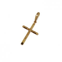 Pingente Mini Cristo na Cruz Banhado a Ouro 18k