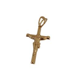 Pingente Cruz Palito Cristo Banhado a Ouro 18k