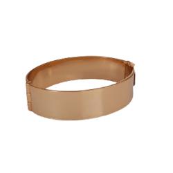 Bracelete Liso 19mm Banhado a Ouro 18K