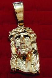 Pingente Grande Jesus Cristo Banhado a Ouro 18k